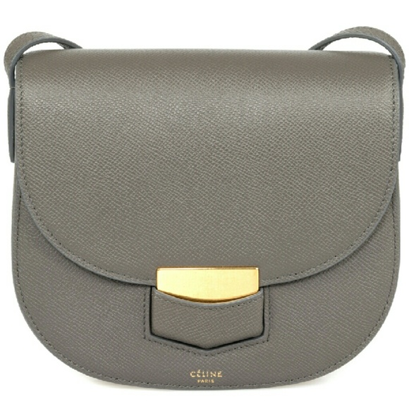 c42cba25f630 Celine Trotteur Small Grey Calfskin Leather