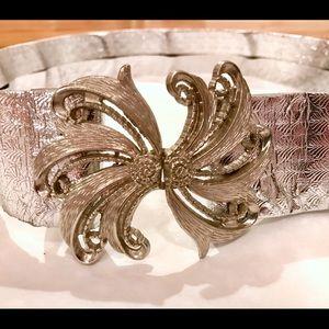 Vintage Foil Metallic Belt