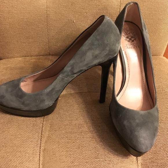 Vince Camuto Shoes   Grey Heels   Poshmark