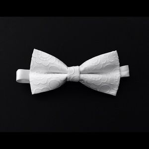 Accessories - embroidery white bow tie, mens bow ties, bow ties