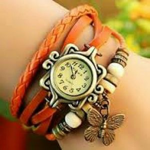 Accessories - Boho chic braided leather watch