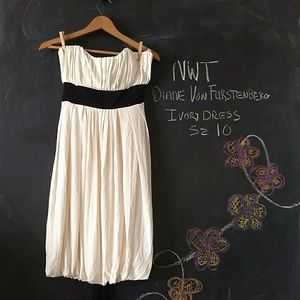 Diane von Furstenberg Dresses & Skirts - NWT DVF Diane von Furstenberg Ivory Dress Sz 10