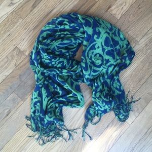 Accessories - Olive & Navy Scarf