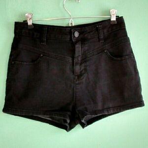 BDG Pants - High waist black jean shorts