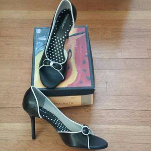 Highlights Shoes - Black & White D'Orsay Heels ~ NIB ~ Wide Width