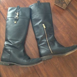 Coach riding leather boots