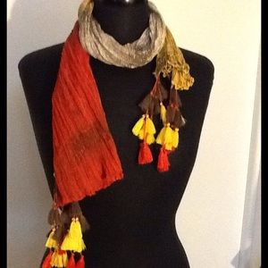 Collection XIIX Accessories - Beautiful Mango and Orange Scarf
