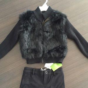 Ella Moss Other - Ella moss faux fur cardigan jacket. 5-6 yrs