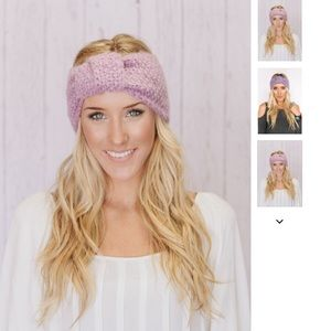 Three Bird Nest Accessories - Knitted Turband Headband in Lilac