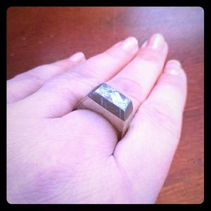 Jewelry - Gibeon Meteorite Encased in Sterling Silver Ring