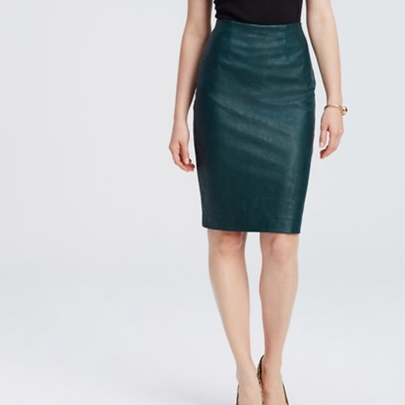 74% off Ann Taylor Dresses & Skirts - Ann Taylor Faux Leather ...