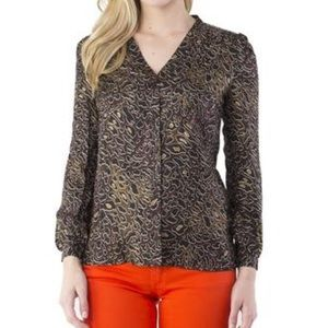 Tory Burch Tops - NWT Tory Burch Jayden Leopard Whitfiel Top 4