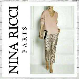 Nina Ricci Pants - Nina Ricci Cropped Silk Trousers
