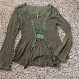 TINY brand Anthropologie knit long sleeve top P