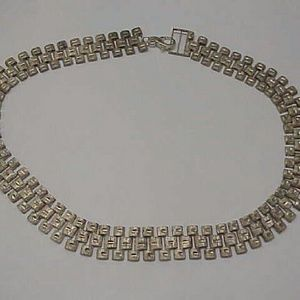 Other - Estate wide sterling silver chain necklace heavy