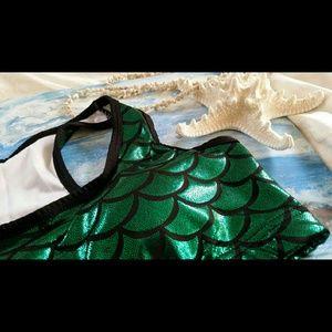 Other - Green Mermaid Sports Bra