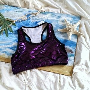 Other - Purple Mermaid Sports Bra