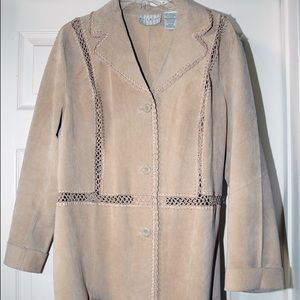 White Stag Jackets & Blazers - Beautiful SWEDE  XL Tan 100% leather jacket,