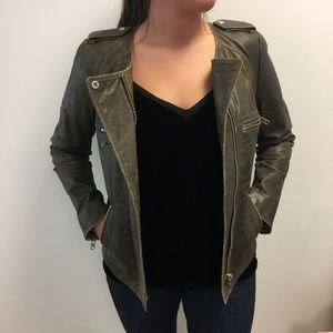Isabel Marant Jackets & Blazers - Isabel Marant Etoile Distressed Leather Jacket