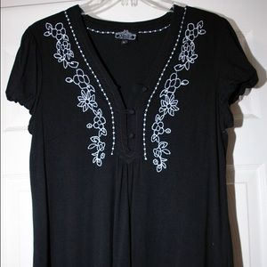 Angie Tops - Angie -Soft Black Top Size L