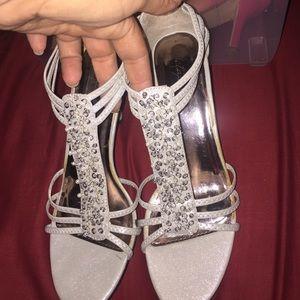 Metaphor pearl jeweled heels
