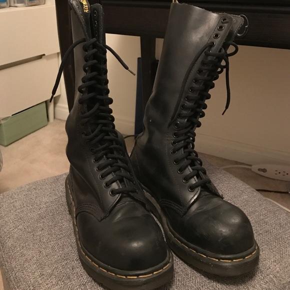 doc marten steel toe mens boots