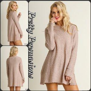 pretty persuasions Sweaters - MUST GO ❤️ Blush Mock Neck Cozy Sweater