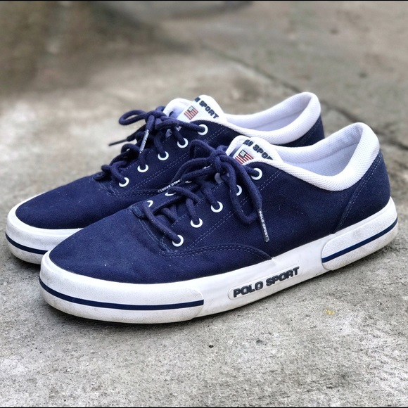 polo ralph sneakers blue and white polo