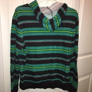 on the byas Shirts - SALE On The Byas PacSun striped lightweight hoodie
