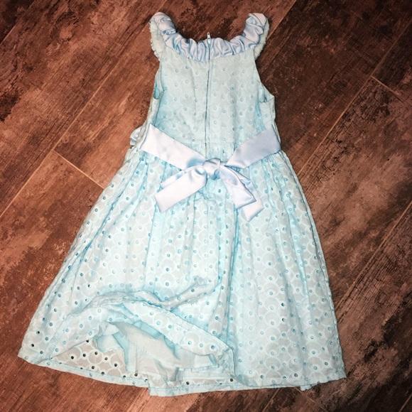 Bonnie jean blue eyelet dress