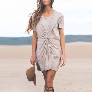 Taupe Knot Front Tunic