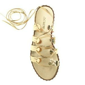 J. Crew Shoes - J. CREW studded lace up gladiator sandals 6