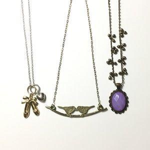 Jewelry - Necklace Bundle🎉 Ballet shoes, Kissing Birds