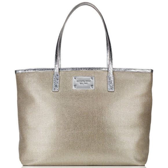 3e5efd42ce3044 Michael Kors Bags | Nwt Tweed Tote Bag Purse Silver | Poshmark