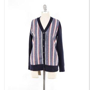 J. Crew Sweaters - J.Crew striped cashmere blend grandpa sweater