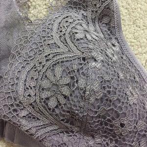 a5e1c77c97 Victoria s Secret Intimates   Sleepwear - Front Close Bralette - Sunset  Grey Crochet Lace