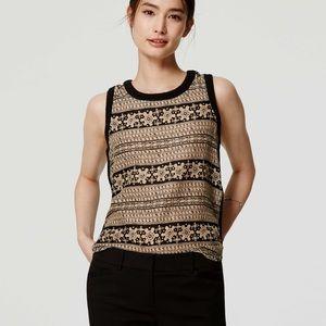 Loft Mixed Media Crochet Shell in Black