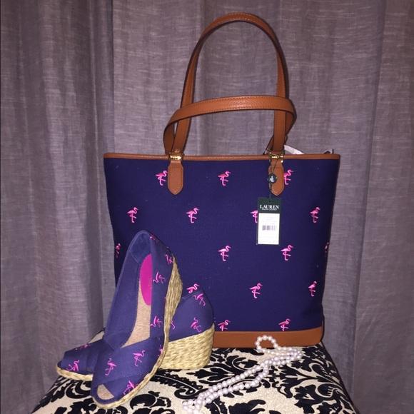 270d383557da Ralph Lauren Flamingo Tote and Espadrilles Set