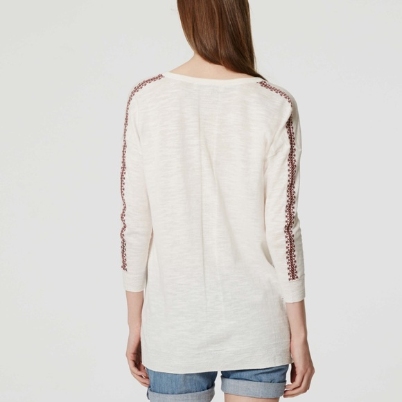 loft embroidered sweater. loft tops - loft embroidered sweater
