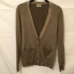Madewell Sweaters - Wallace Madewell Gold Metallic Cardigan Sweater