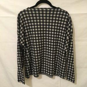 Zara Tops - Zara Black and White Checkered Fuzzy Top
