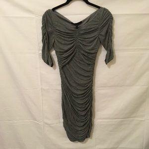 BCBGMaxAzria Dresses & Skirts - BCBGMaxAzria Heather Grey Ruched Bodycon Dress