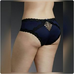 JUST IN! NWT Lace Up Microfiber Cheekster Panty