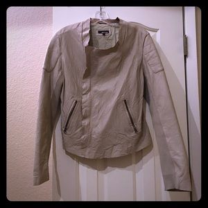 LAmade Jackets & Blazers - LA Made 100% beige leather moto jacket
