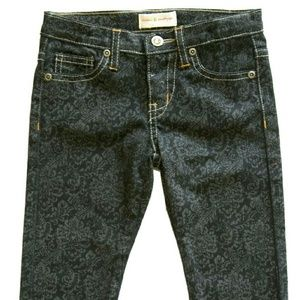 Mimi & Maggie Other - damask print jean-black