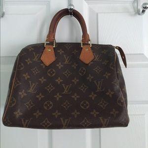 Authentic Louis Vuitton Speedy 25 Monogram Satchel