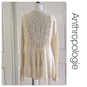 Anthropologie Sweaters - Anthropologie Knitted & Knotted cream cardigan L