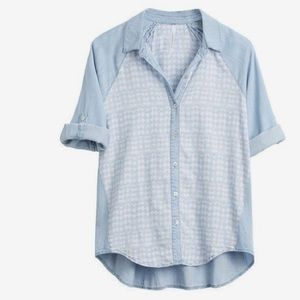 Liverpool Jeans Company Tops - Stitch fix Liverpool chambray Zarina top