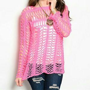 "Tops - ""Pretty in Pink"" crochet top!! BRAND NEW"