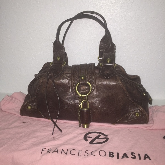 d6b17266e7c5 Francesco Biasia Handbags - Francesco Biasia Brown Leather Handbag